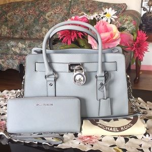 Michael kors saffiano leather satchel & wallet